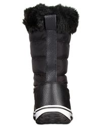 Wanted | Black Slopes Lace-up Faux-fur Cold Weather Booties | Lyst