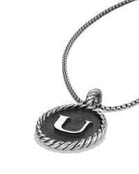 David Yurman - Black Cable Collectibles Initial Charm - Lyst