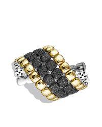David Yurman | Black Chiclet Limited-edition Four-row Bracelet In Gold | Lyst