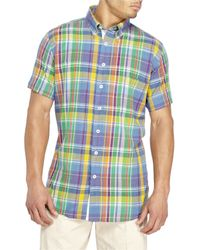 Mine - Multicolor Madras Button-Down Shirt for Men - Lyst