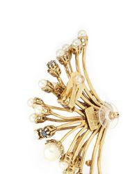 Erickson Beamon | Metallic 'stratosphere' Pearl Crystal Branch Ear Cuffs | Lyst