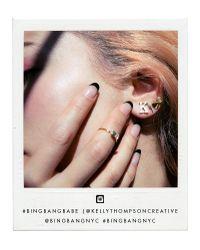 Bing Bang | Pink Crystal Skull Studs | Lyst
