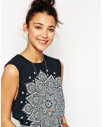 Les Nereides | Metallic Turquoise Sunset Pendant Necklace | Lyst