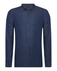 Michael Kors | Blue Slim Fit Indigo Twill Shirt for Men | Lyst