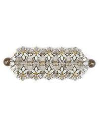 Tataborello | Metallic Light And Shadows B6 Crystal Bracelet | Lyst