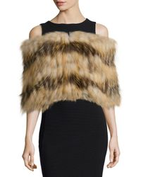 Gorski | Brown Layered Fox Fur Cowl Collar | Lyst