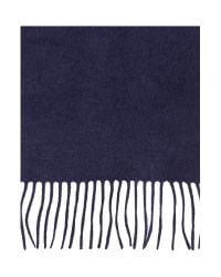Howick | Blue Cashmere Scarf for Men | Lyst