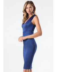 Bebe - Blue Tiana Paneled Dress - Lyst