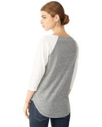 Alternative Apparel - Gray Eco-jersey Raglan Henley Shirt - Lyst