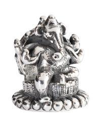 Trollbeads | Metallic Sterling Silver Ganesha Charm | Lyst