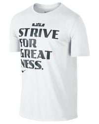 Nike | White Men's Lebron Graphic Dri-fit T-shirt for Men | Lyst
