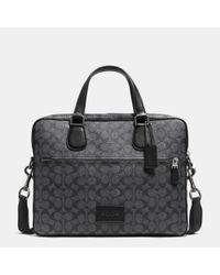 COACH - Gray Hudson Bag 5 In Crossgrain Leather for Men - Lyst