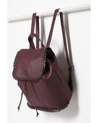 Forever 21 | Purple Faux Leather Chained Backpack | Lyst