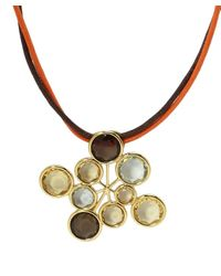 Poiray - Multicolor Bubble Stone Necklace - Lyst