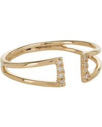 Jennie Kwon - Metallic Diamond & Gold Buckle Ring - Lyst