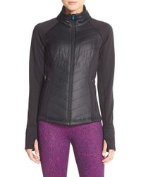 Zella - Black 'zelfusion' Quilted Jacket - Lyst