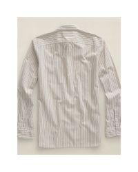 RRL - Natural Striped Cotton Shirt for Men - Lyst