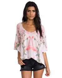 Wildfox | Florida Garden Tunic in Pink | Lyst