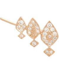 Stone - Metallic Diamond & Pink Gold Gatsby Earring - Lyst