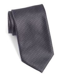 Canali | Black Woven Silk Tie for Men | Lyst