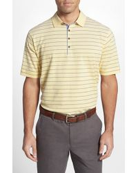 Cutter & Buck - Natural 'gabriel Stripe' Classic Fit Pique Polo for Men - Lyst