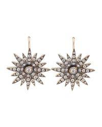 Sylva & Cie - Metallic Starburst Diamond Earrings - Lyst