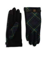 Lauren by Ralph Lauren | Green Tartan Plaid Touch Gloves | Lyst