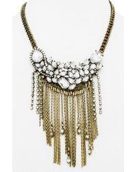 BaubleBar - Metallic 'dressage' Collar Necklace - Antique Gold - Lyst