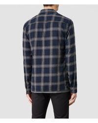 AllSaints - Black Claymore Shirt for Men - Lyst