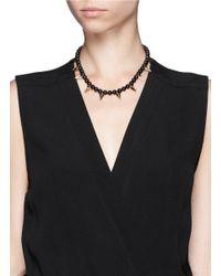 Joomi Lim | Black Stud Bead Necklace | Lyst