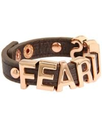 BCBGeneration | Multicolor Gunmetal and Rose Gold Fearless Smooth Affirmaition Bracelet | Lyst