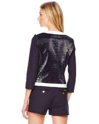 Michael Kors - Black Leather-Front Jacket - Lyst