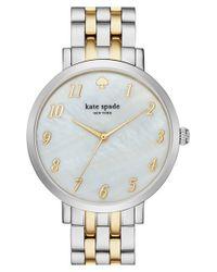 kate spade new york - Metallic 'monterey' Bracelet Watch - Lyst