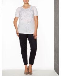 Marina Rinaldi | White Vaniglia Sequinned T-shirt | Lyst