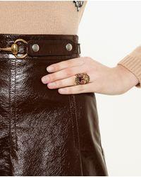 Gucci | Metallic Antique Gold Ring | Lyst