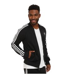 Adidas Originals | Black Superstar Track Top for Men | Lyst