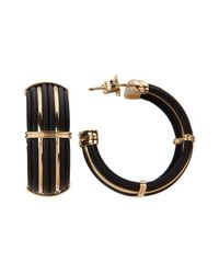 Roberto Coin | Women's Black Polyurethane And 18k Yellow Gold Earrings | Lyst