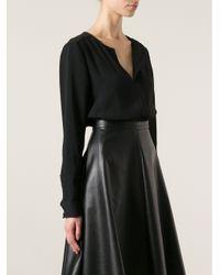 Proenza Schouler - Black Long Sleeve Blouse - Lyst