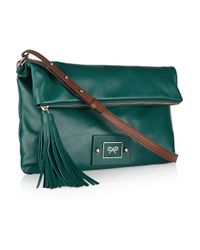 Anya Hindmarch - Green Faithful Leather Shoulder Bag - Lyst