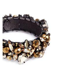Erickson Beamon - Metallic 'golden Rule' Crystal Cluster Bangle - Lyst