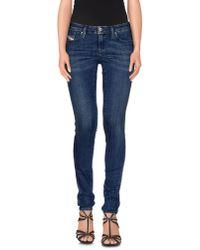 DIESEL - Blue Denim Trousers - Lyst