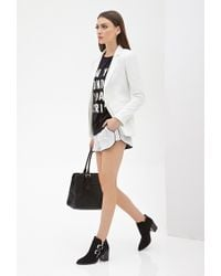 Forever 21 | White Classic Notched Collar Blazer | Lyst