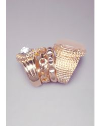 Bebe | Metallic Stackable Ring Set | Lyst