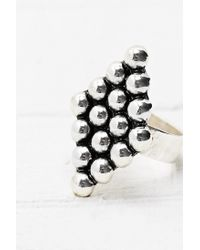 Urban Outfitters - Metallic Diamond Bobble Ring in Silver - Lyst
