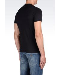 Armani Jeans - Black Jersey T-shirt for Men - Lyst