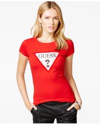 Guess | Red Short-sleeve Graphic T-shirt | Lyst