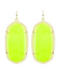 Kendra Scott | Danielle Earrings Neon Yellow | Lyst