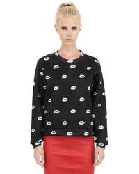 American Retro | Black Annette Printed Techno Sweatshirt | Lyst