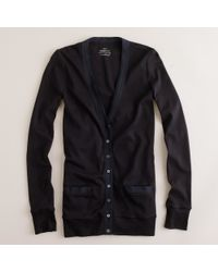 J.Crew | Black Perfect-Fit Mixed-Tape Cardigan | Lyst