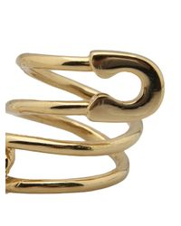 Tom Binns - Metallic Twisted Safety Pin Ring - Lyst